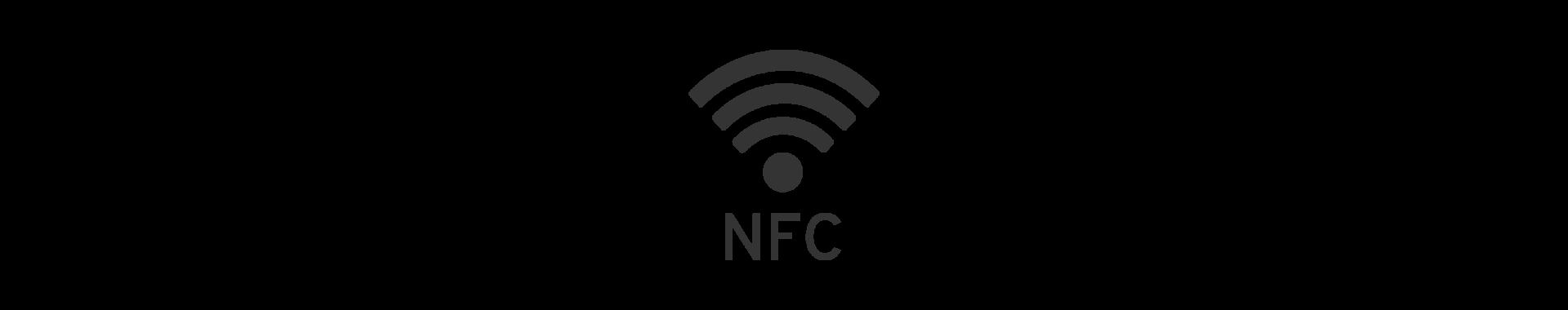 NFC-Wellensymbol mit NFC Zusatz